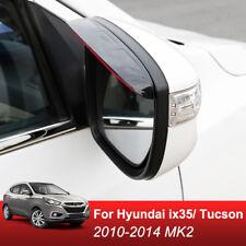 For Hyundai ix35 Tucson Door Side Wing Mirror Rain Guard Eyebrow Shield Shade