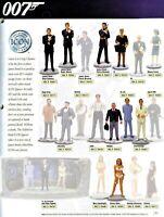 "James Bond CORGI ICON White metal Hand Painted 3"" 1/24 12 figurines figure"