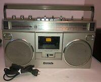 Vintage Panasonic Portable Silver AM/FM Radio Cassette Recorder RX-5090 WORKING