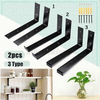 "2Pcs DIY Shelf Brackets 9.5""X5"" Retro Style Wall Mount Floating Boards  W ︵ ø"
