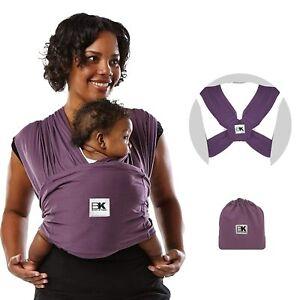 Baby K'tan Original Baby Wrap Carrier, Infant & Child Sling 35 lbs Purple MEDIUM