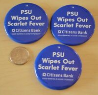 2014 Penn State Football Lot of 3 Rutgers Wipes Scarlet Fever Pinbacks Buttons