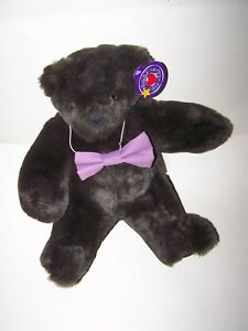 Vermont Teddy Bear Dark Brown PLUSH Friend For Life Born Abroad with Tags