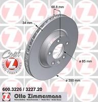 Bremsscheibe COAT Z - Zimmermann 600.3227.20