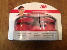 3M Adjustable Safety Eyewear Black/Gray High Impact Resistance Lenses