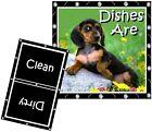 DOG DISHWASHER MAGNET (Dachshund - Black/Brown) - Clean/Dirty *Ship FREE