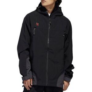 Adidas 3l 20k Snowboard Jacket - Black/Utility Black/Signal Orange FJ7502 Size S