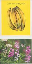 VINTAGE BANANA NUT CAKE BREAD RECIPE BIRTHDAY ART PRINT 1 LANG HUMMINGBIRD CARD