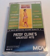 12 Greatest Hits by Patsy Cline (Cassette, Nov-1990, Universal Import)