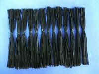 25 Silicone Skirts  #25-910 Black  bass musky pike spinner bait tackle  making