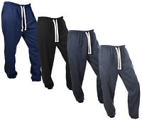 Mens Jogging Bottoms Pants Joggers Fleece Gym Tracksuit
