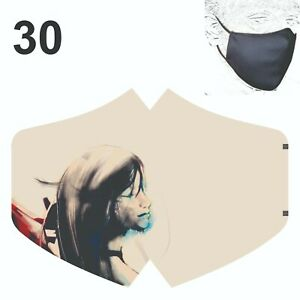 Face Mask Art Face Reusable Breathable Washable Double layer Protection Cover UK