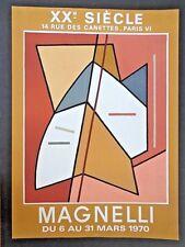 Rare vintage Alberto Magnelli lithograph poster 1970, XXe Siècle,Mourlot INV2756