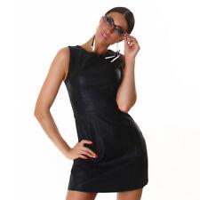 Kleid Wetlook Minikleid WoW Sexy Blogger Leder M 38