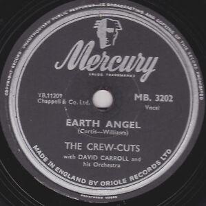 1955 Clásico Earth Angel Tripulante Cortes 78 B/W Ko MO GB Mercury MB 3022V