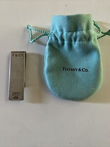 Tiffany & Co 925 Sterling Silver Money Clip Monogrammed