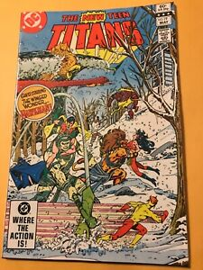 NEW TEEN TITANS #19 : DC comics 5/82 VF; Hawkman & Hawkgirl x-over; Raven, Robin
