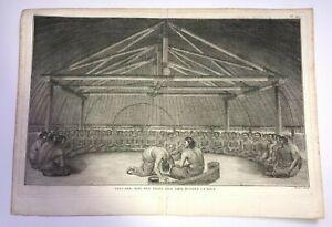 FRIENDLY ISLANDS ILES DES AMIS 1780 JAMES COOK LARGE ANTIQUE VIEW 18TH CENTURY