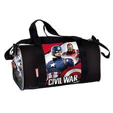 Marvel Civil War Large Holiday Travel Sports Gym Bag Captain America OFFICIAL