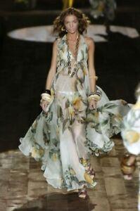 ROBERTO CAVALLI Dress mini  silk 42IT (S) lemon print