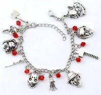 Horror Movie Charm Bracelet Gift Hand Bone Ax Ghost Halloween Creepy