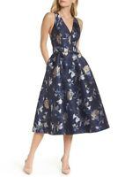 $189 NWT 1901 WOMEN'S NAVY LACE FIT & FLARE PARTY DRESS SIZE 10