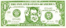 USA /  $1 Cold Cash 1971  Political Ad. President R. Nixon Uncirculated banknote