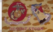 UNITED STATES MARINE CORPS ( USMC ) DESERT STORM FLAG 5ft X 3ft