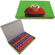 60pc Elmo Sesame Street Self Inking Stamp Set Kid School Supplies Party Favors