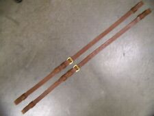 Leather Luggage Straps for Luggage Rack Carrier 2 Strap Set Lt Med Brown Brass