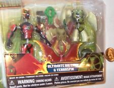 """✰ BEN 10 Ultimate Alien 3"""" Ultimate Big Chill & Terraspin Factory Seal New 2010"""
