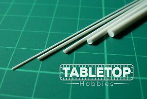 ABS Styrene Plastic Round Rod Bar Strip Modelling 0.5/1/1.5/2/3mm Diam