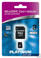 Platinum Class 10 micro-SDHC 8GB Speicherkarte inkl. SD Adapter 177330