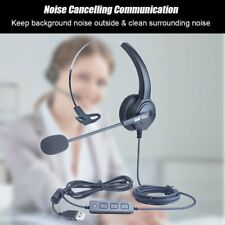 Noise Cancelling USB Wired Headsets Laptop PC Call Center Headphone With Mic