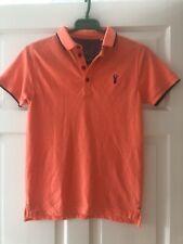 Boys Next Bight Orange Polo T-Shirt Age 11 Years