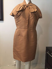 Preowned CHRISTIAN DIOR Gold Dress, Size ITALY 48 US 12 !!!! CAMDAY