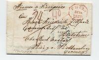 1852 Philadelphia transatlantic to germany 5cts paid octagon [H.572]