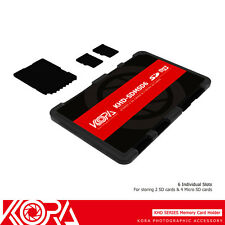 KORA Ultra Slim Wallet Memory Card Holder for 2 SD+4 Micro SD Cards Compact Case