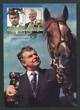 Australia Mk montar caballo Horse cheval caballos jokey maximum card mc cm d4310