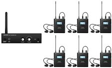 Wireless In-ear Monitor System For Recording Studio Stage monitor (6 receivers)