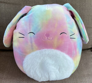 """11"""" CANDY the Rainbow Tie Dye BUNNY Squishmallow 2021 EASTER Release - NWT Plush"""