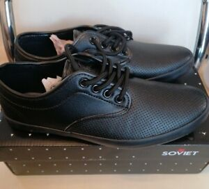 Soviet Black Bux Vamp Shoes Trainers Size 6 New