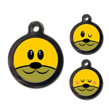 Round Dog Cat Pet Tags ID Tags for Collars Custom Name Discs - Personalised FREE