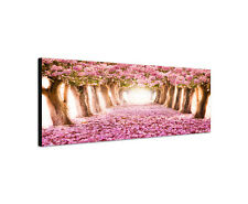150x50cm pink rosa Baumallee Romantik Traum Kirschblüten Leinwand Sinus Art