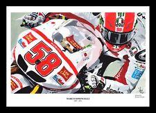 Marco simoncelli: motogp-fine art print signé par l'artiste
