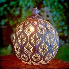 Metal Hanging Candle Lantern Antique Gold Egyptian Style Outdoor Garden Home UK