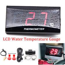 Red Digital Motorcycle Water Temp Thermometer Gauge Meter+ 22mm Sensor Head Plug