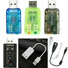 USB 2.0 Virtual Audio 5.1 / 7.1 Channel External Sound Card Adapter For PC & Mac