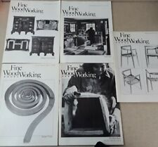 5 Vintage Fine Woodworking Soft Cover Issues 1980