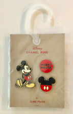 New listing Junk Food Disney Mickey Mouse Enamel Trading Pins New/Sealed - Happy Mickey
